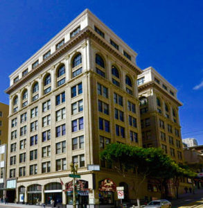 We are located one block north of Union Square. The door to our office building is on Sutter St.