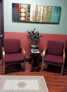Our waiting room offers a welcoming ambiance. Please come in and have a seat. We will be with you momentarily.